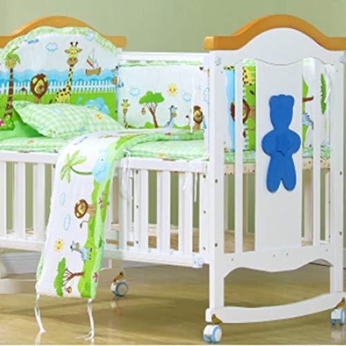 100 * 58 cm / 110 * 60 cm 5 teile/satz Förderung Baumwolle Baby Kinder Bettwäsche Set Komfortable Krippe Stoßstange Baby Organizer Kinderbett Kit