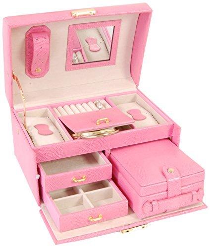 budd-leather-lizard-print-calf-jewel-box-with-handle-pink-by-budd-leather