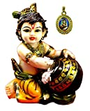 #9: Amazing India Hand Carved Baby Krishna Resin Idol Sculpture Statue Size 6.5 inches