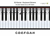 De Piano, Piano, Clavier, de notes Stickers C-D de f G de A électronique H, 52 Stickers