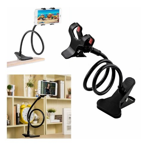 Lazy Mobile Stand Universal Flexible Long Arms Mobile Stand Phone Holder Bed Desktop Car Mobile Phone Holder Stand BLACK