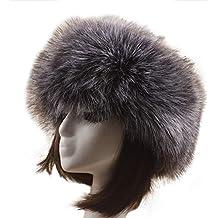 ESHOO Sombrero de piel sintética para el invierno con gorro de lana ruso de estilo  ruso 3baac9f12355