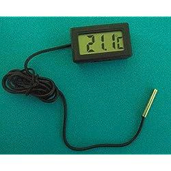 Generic LCD digitale termometro temperatura umidità raggi UV, forte anti-interferenza per Home Wall, auto, Indoor, frigorifero con congelatore a temperature precisione ± 1°c (Nero)