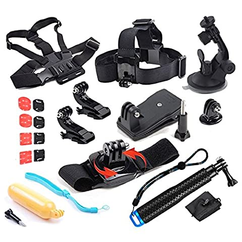 SHOOT 8 in 1 Accessories Kit for Gopro 5/4/3+/3/2/1 Head