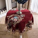 LSJT Runder Tischdecke Runder Tisch Tischdecke Stoff Tischdecke Tischdecke Couchtisch Tischdecke Runde (Farbe : E, größe : 120cm)