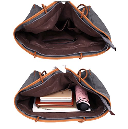 Super Moderne Leinwand Große Tragetaschen Handtasche Damen Hobos und Schulter Bags Messenger Bag coffee