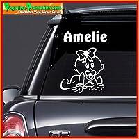 Prinzessin001 Kind an Bord M/ädchen Auto-Zeichen Prinzessin Amelie Baby