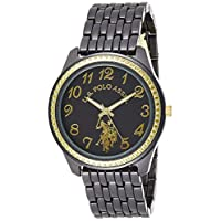 U.S. Polo Assn. Womens Quartz Watch, Analog Display and Stainless Steel Strap USC40100