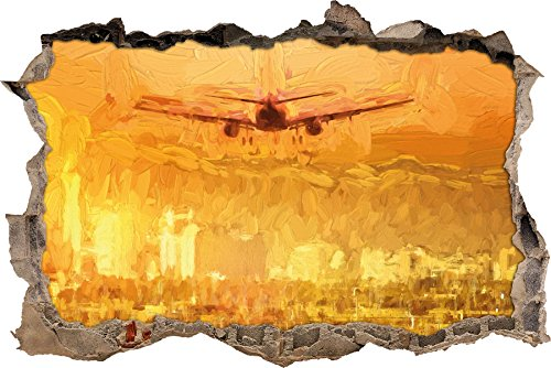 Preisvergleich Produktbild Urlaubsreise nach Las Vegas Kunst Pinsel Effekt Wanddurchbruch im 3D-Look, Wand- oder Türaufkleber Format: 62x42cm, Wandsticker, Wandtattoo, Wanddekoration