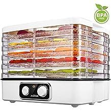 Deshidratador Alimentos Aicook, Deshidratadora De Frutas 5 Bandejas Altura Regulable, 35-70℃