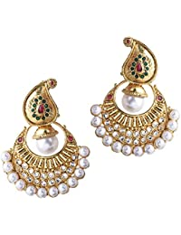 Shining Diva Traditional Jewellery Gold Plated Jhumka / Jhumki Earrings For Women