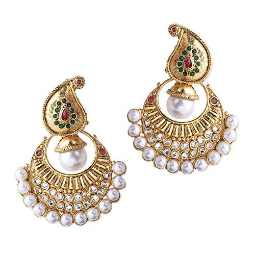 Shining Diva Traditional Jewellery Gold Plated Jhumka / Jhumki Earrings For Women