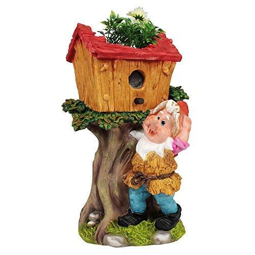 Wonderland Gnome with Tree House Flower Pot/Planter for Home, Garden,Balcony, dŽcor, Decoration, Kids Room, Gift Item, Dwarf