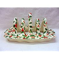 christmas holly chintz Toastständer