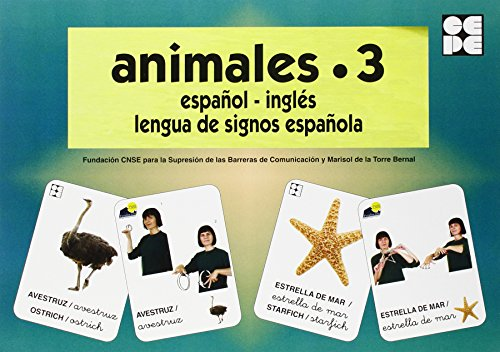 Animales 3. Baraja Español-Ingles. Lengua De Signos Española (Vocabulario Fotografico Element) por Vv.Aa.