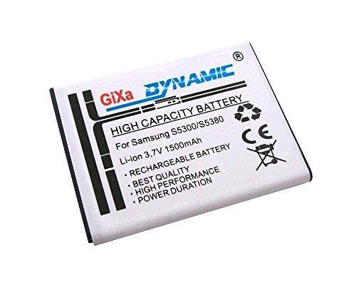 GiXa Technology Akku für Samsung S5363 Ersatzakku Leistung Ersatz Akku passend für Samsung Galaxy GT-B5510 Y Pro / S5300 Galaxy Poket / GT-S5360 Galaxy Y / S5363 / S5369 / GT-S5380 Wave Y EB454357VU Accu Aku Batterie