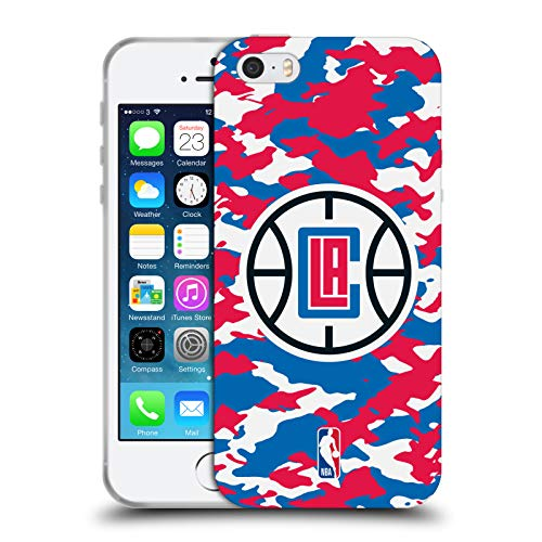 Head Case Designs Offizielle NBA Camouflage 2018/19 Los Angeles Clippers Soft Gel Huelle kompatibel mit iPhone 5 iPhone 5s iPhone SE (Los 5s Iphone Angeles Clippers)