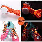 JERN Cool Fashion Light up LED Shoelaces Flash Party Skating Glowing Shoe Laces for Boys Girls Fashion Self Luminous Shoe Strings (Orange)