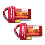 FLOUREON 11.1V 1500mAh 35C XT60 Plug Lipo 3S Rechargeable RC Battery for RC Truck Car Boat RC Evader UAV FPV Drones Heli Quadcopter DIY Hobby and More