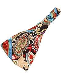 Sanwood Women Boho Floral Headband Elastic Yoga Running Headwrap