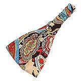 Sanwood Women Boho Floral Headband Elastic Yoga Running Headwrap (Type 4)