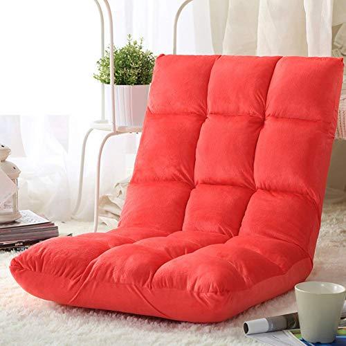 Japanische Design-tatami-matte (YLCJ Klappbarer Gaming-Stuhlboden, Tatami-Matten-Bodenstuhl mit Verstellbarer Rückenlehne, Meditationsstuhlx Japanisch-Rot)