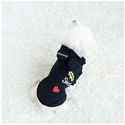 PZSSXDZW Herbst und Winter Neue Hundekleidung einfarbig OEM Milch Hund Pullover Plus Samt Baumwolle lässig ()
