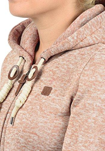 DESIRES Thory Damen Fleecejacke Sweatjacke Jacke Mit Kapuze Und Daumenlöcher, Größe:M, Farbe:Ma. Rose M (4203M) - 5
