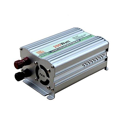 Convertisseur BQ Power Inverter 200 W DC 12V à AC 220V Transformateur tension de voiture Briquet de cigarette Chargeur de voiture USB (Argent)