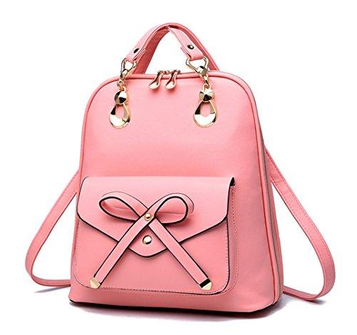 Keshi Pu neuer Stil Maedchen Rucksack Schulranzen Pink
