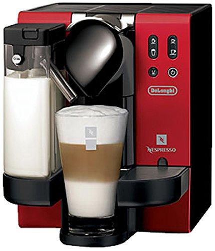 DeLonghi EN 660 R Nespresso Lattissima 1300 W stylish red Design IFD System - Gläser Nespresso Latte Macchiato