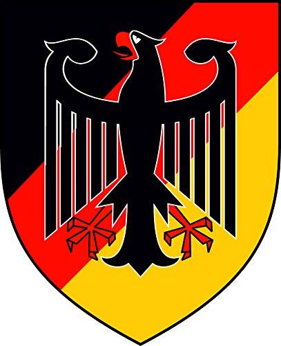 Etaia 4x5 cm - Mini Auto Aufkleber Deutschland Wappen mit Adler kleine Sticker fürs Motorrad Fahrrad Bike -