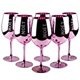 6 X Moet & Chan Don Imperial Bicchieri in vetro rosa rose rosa champagne vetro Limited Ibiza