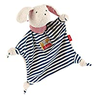 Sigikid Comforter Dog (White with Dark Blue Stripes)