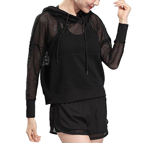 Lemon design Damen Sport Kapuzenpullover Hoodie Sweatshirt Pullover mit Kapuze Sweatjackefür Sommer & Herbst Sexy & Cool Design. (S, Schwarz) (Justin Herren-bay)