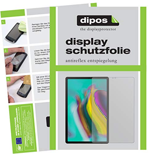 dipos I 2X Schutzfolie matt passend für Samsung Galaxy Tab S5e 10.5 Zoll Folie Displayschutzfolie - 2012 Samsung Tablet