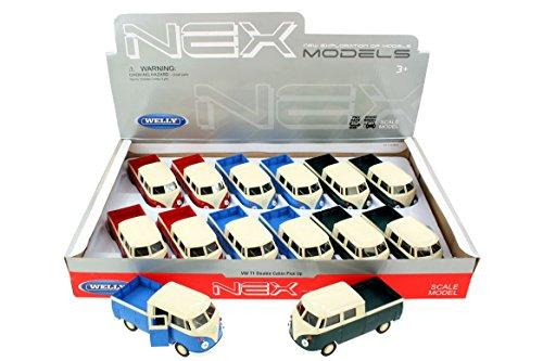 Welly-VW Pick Up Bus 12-teilig Fahrzeugen mit Funktionen, 22277Z, Mehrfarbig - Pick-up Spielzeug
