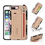 TAITOU iPhone 6Plus Case, Cloth Cowboy Design Combined Armor Slim Wallet Cover ID...