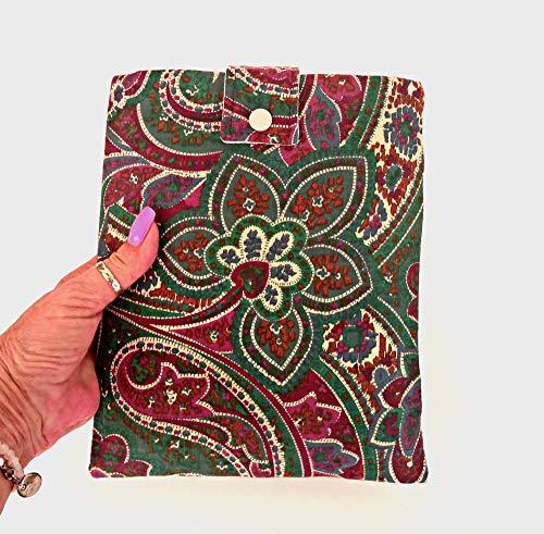 Buchhülle für Frauen, klassischer Stoff-Buchumschlag, Taschenbuch, Buchumschlag, Buchschutz