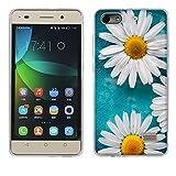 Fubaoda Honor 4C Hülle Case, [Weiße Chrysanthemen] Ultra-Clear Huawei Honor 4C (G Play Mini) Case Silikon Soft TPU Premium Handyhülle Case Backcover Bumper Slim case für Huawei Honor 4C (G Play Mini)