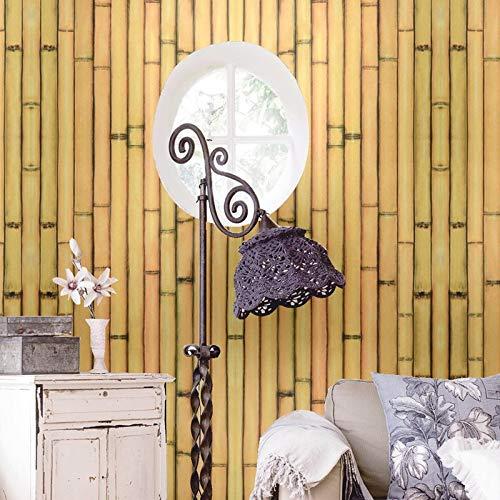 KYKDY Tapeten Supermarkt Im chinesischen Stil grob Bambus chemische Muster Bauernhaus Wallpaper Stube Restaurant Hotel Box Grill Dach Hintergrund Wllpaper, Wy 6953, 53 CM X 10 M