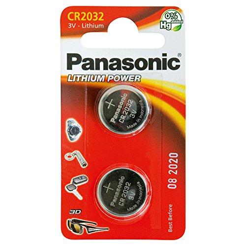 panasonic-cr2032-coin-battery-pack-quantita-x-2-litio-3v-orologi-torce-car-fob-calcolatrici-della-fo
