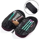 Black : OR Pure Zipper Makeup Brush Bag Cosmetic Bag Organizer Portable Holder Multifunctional Makeup Case Handbag...