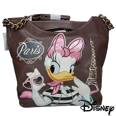 """Disney Women Handbag Shoulder bag Carry bag Daisy Duck """"Paris""""Original Disney"""