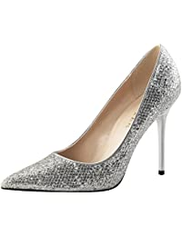 Stiletto Pumps, Damen, Silber (silber)