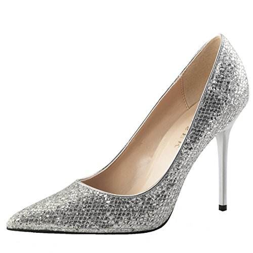 Heels-Perfect , Hi-Top Slippers femme Silber (Silber)