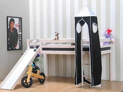Thuka Kinder Stoff Turm - schwarz/weiß (Etagenbett Schlafzimmer-sets)
