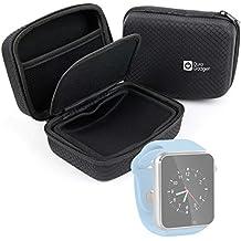 DURAGADGET Carcasa Para Reloj AGPtek A1 | LaTEC | Pebble Classic | Time Round | Posma W1 | Pushman 1 | Zolimx U80 - Con Bolsillo De Rejilla Interno Y Separador Protector