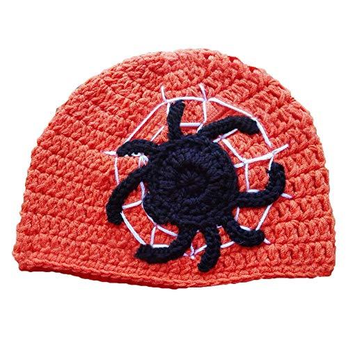 Clevoers Halloween-Mütze für Kinder, Winter, handgefertigt, Wolle Strickmütze -