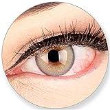 Glamlens SILICONE COMFORT SOFT Graue Kontaktlinsen Elly Gray ohne Stärke-für Braune Dunkelbraune Schwarze Dunkle Augen. 2 Farbige Graue 3 Monatslinsen - by MeralenS - 0.0 Dioptrien